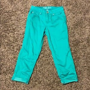 Justice size 12r green jeans